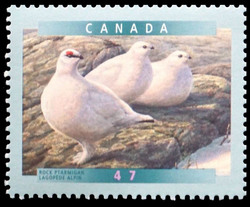 Rock Ptarmigan Canada Postage Stamp | Birds of Canada