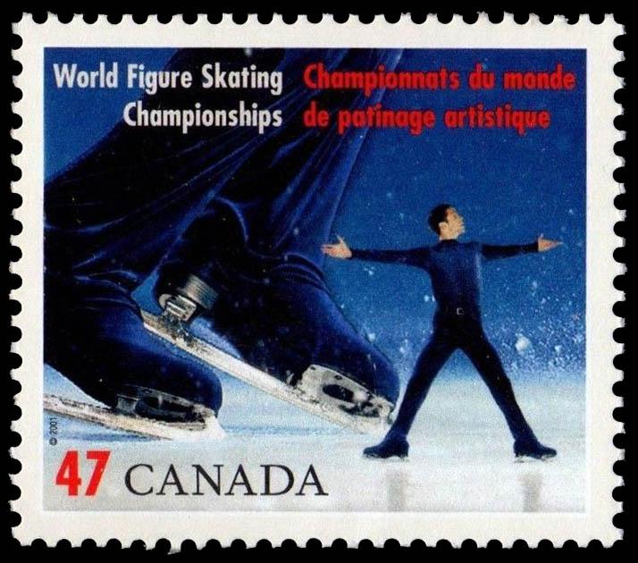 Men's Singles Canada Postage Stamp | World Figure Skating Championships