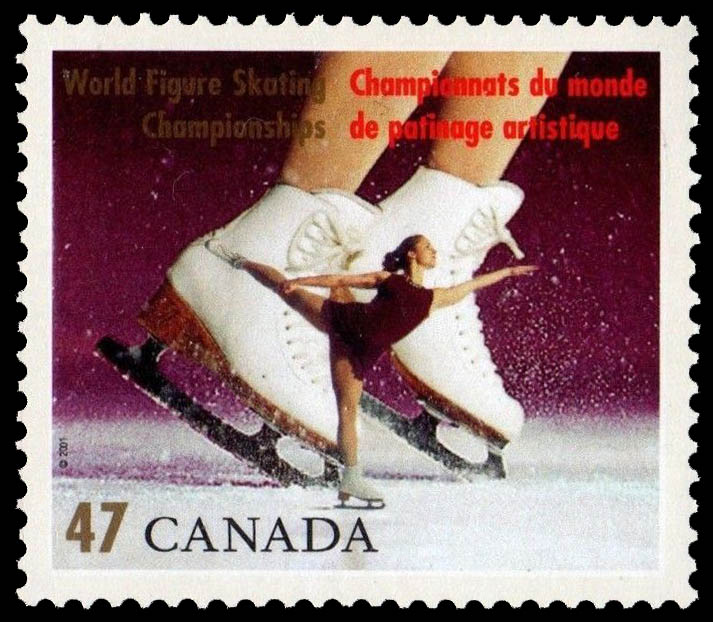 Women's Singles Canada Postage Stamp | World Figure Skating Championships