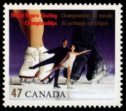 Pairs Canada Postage Stamp | World Figure Skating Championships