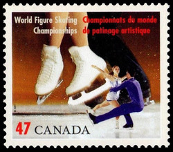 Ice Dancing Canada Postage Stamp | World Figure Skating Championships