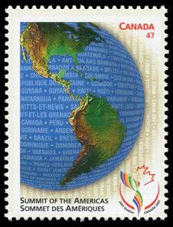 Summit of the Americas Canada Postage Stamp