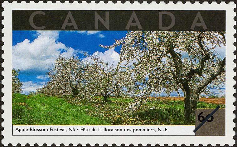 Apple Blossom Festival, Nova Scotia Canada Postage Stamp