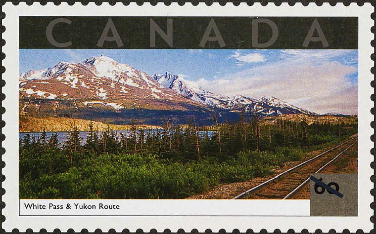 White Pass and Yukon Route, Yukon Territory Canada Postage Stamp | Tourist Attractions