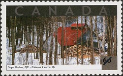 Sugar Bushes, Quebec Canada Postage Stamp | Tourist Attractions