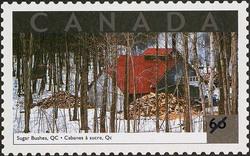 Sugar Bushes, Quebec Canada Postage Stamp   Tourist Attractions