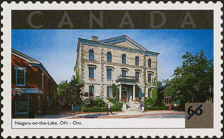 Niagara-on-the-Lake, Ontario Canada Postage Stamp | Tourist Attractions