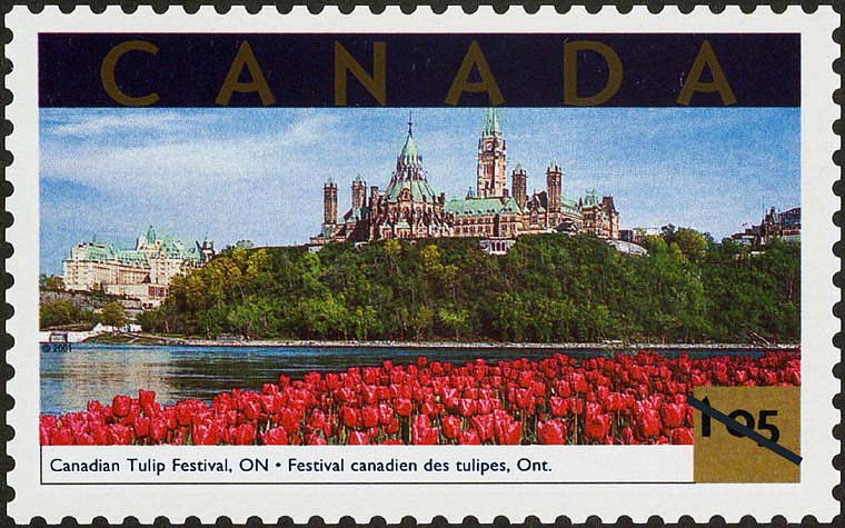 Canadian Tulip Festival, Ontario Canada Postage Stamp | Tourist Attractions