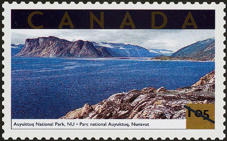 Auyuittuq National Park, Nunavut Canada Postage Stamp | Tourist Attractions