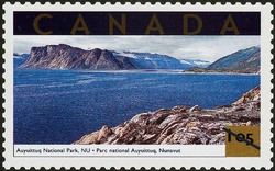 Auyuittuq National Park, Nunavut Canada Postage Stamp | Tourist Attractions