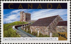 Signal Hill National Historic Site, Newfoundland Canada Postage Stamp | Tourist Attractions