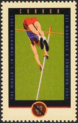 Pole Vaulter Canada Postage Stamp | IAAF World Championships - Edmonton