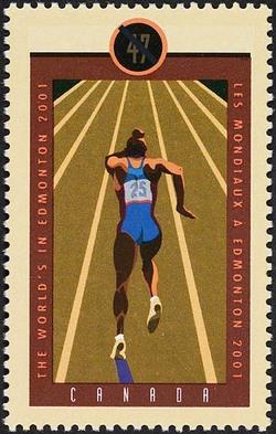 Sprinter Canada Postage Stamp | IAAF World Championships - Edmonton