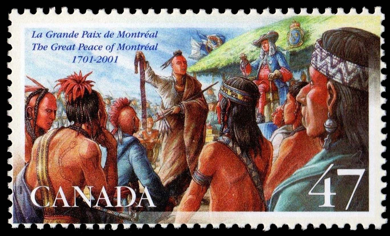 The Great Peace of Montreal, 1701-2001 Canada Postage Stamp