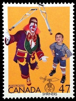 Shriners Canada Postage Stamp