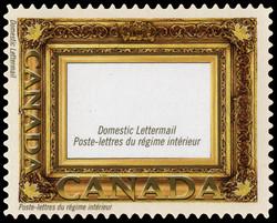 Gold Leaf Frame Canada Postage Stamp | Greeting Stamps