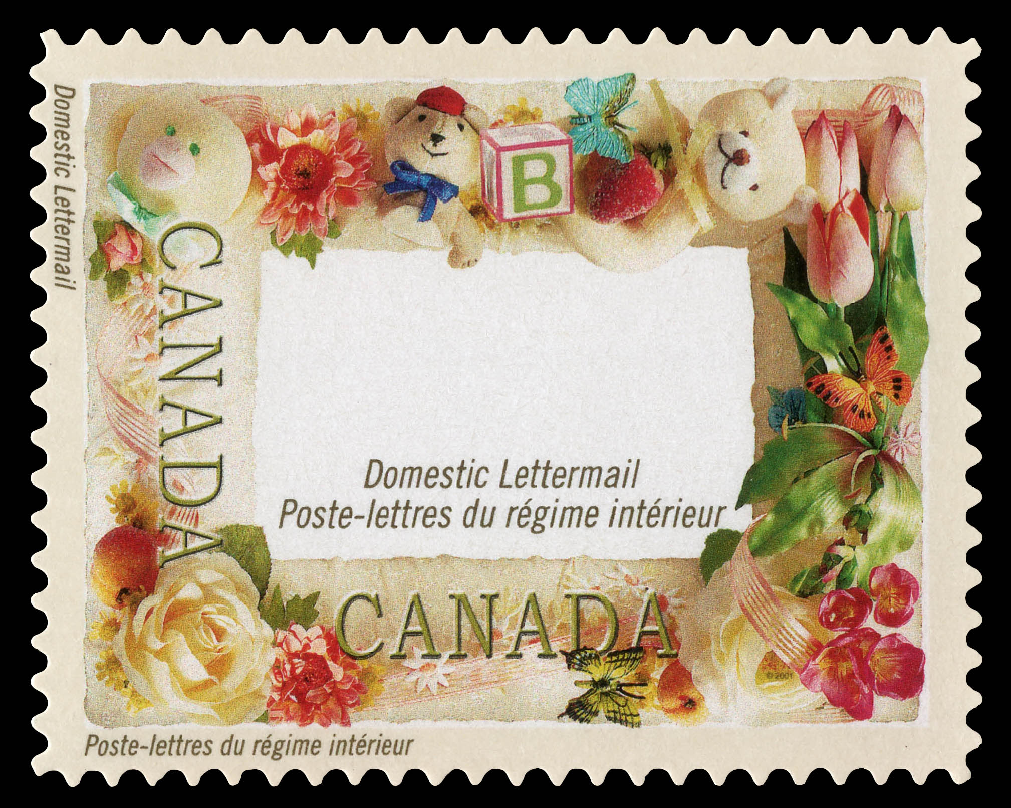 """""""Baby"""" Frame Canada Postage Stamp 