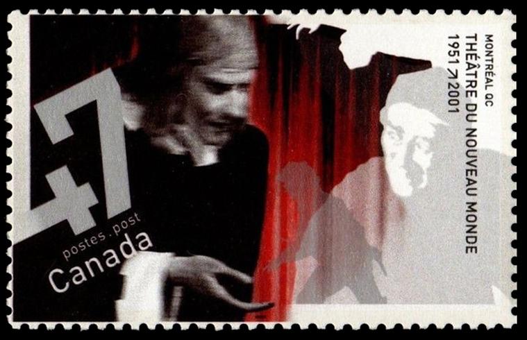 Theatre du Nouveau Monde, 1951-2001, Montreal, Quebec Canada Postage Stamp