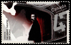 The Grand Theatre, 1901-2001, London, Ontario Canada Postage Stamp | Theatres