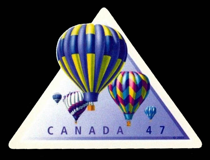Hot Air Balloons Canada Postage Stamp   Hot Air Balloons
