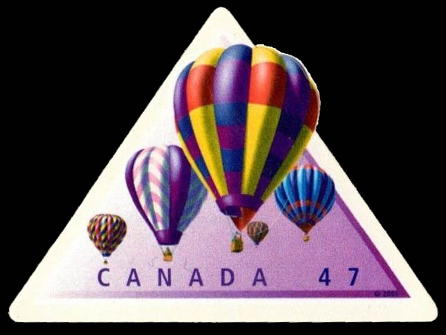 Hot Air Balloons Canada Postage Stamp | Hot Air Balloons