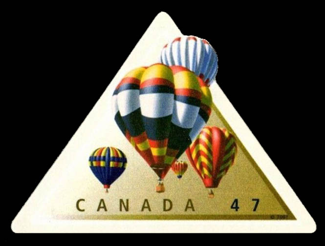Hot Air Balloons Canada Postage Stamp
