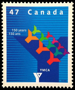 Young Men's Christian Association, 150 Years Canada Postage Stamp