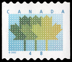 Maple Leaf Canada Postage Stamp | Three Maple Leaves