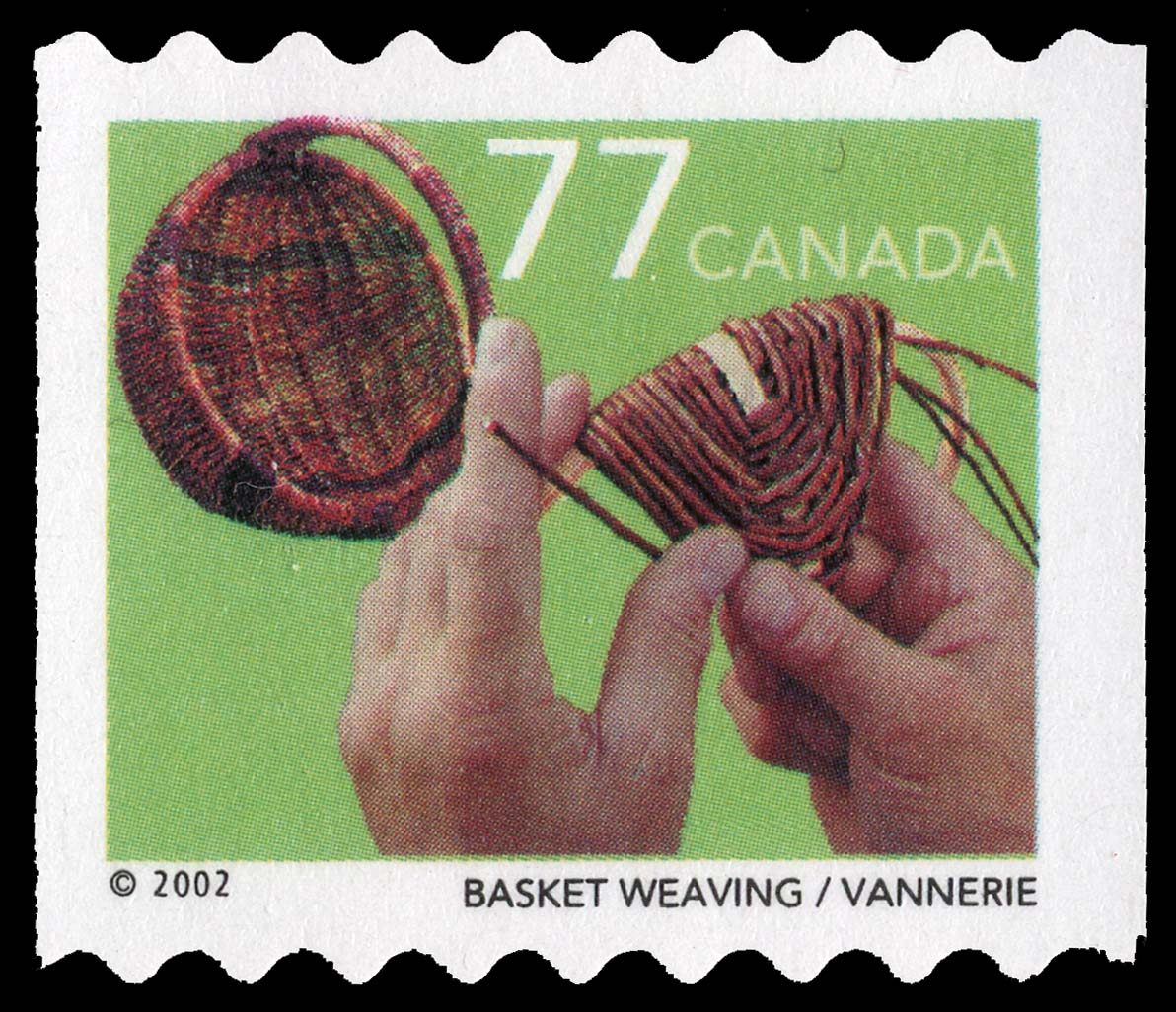 Basket Weaving Canada Postage Stamp | Traditional Trades