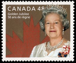 Queen Elizabeth II, Golden Jubilee Canada Postage Stamp