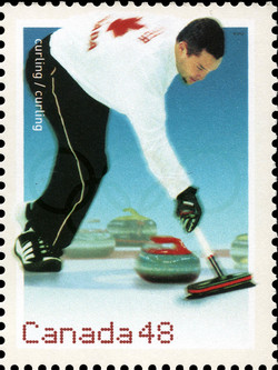 Curling  Postage Stamp