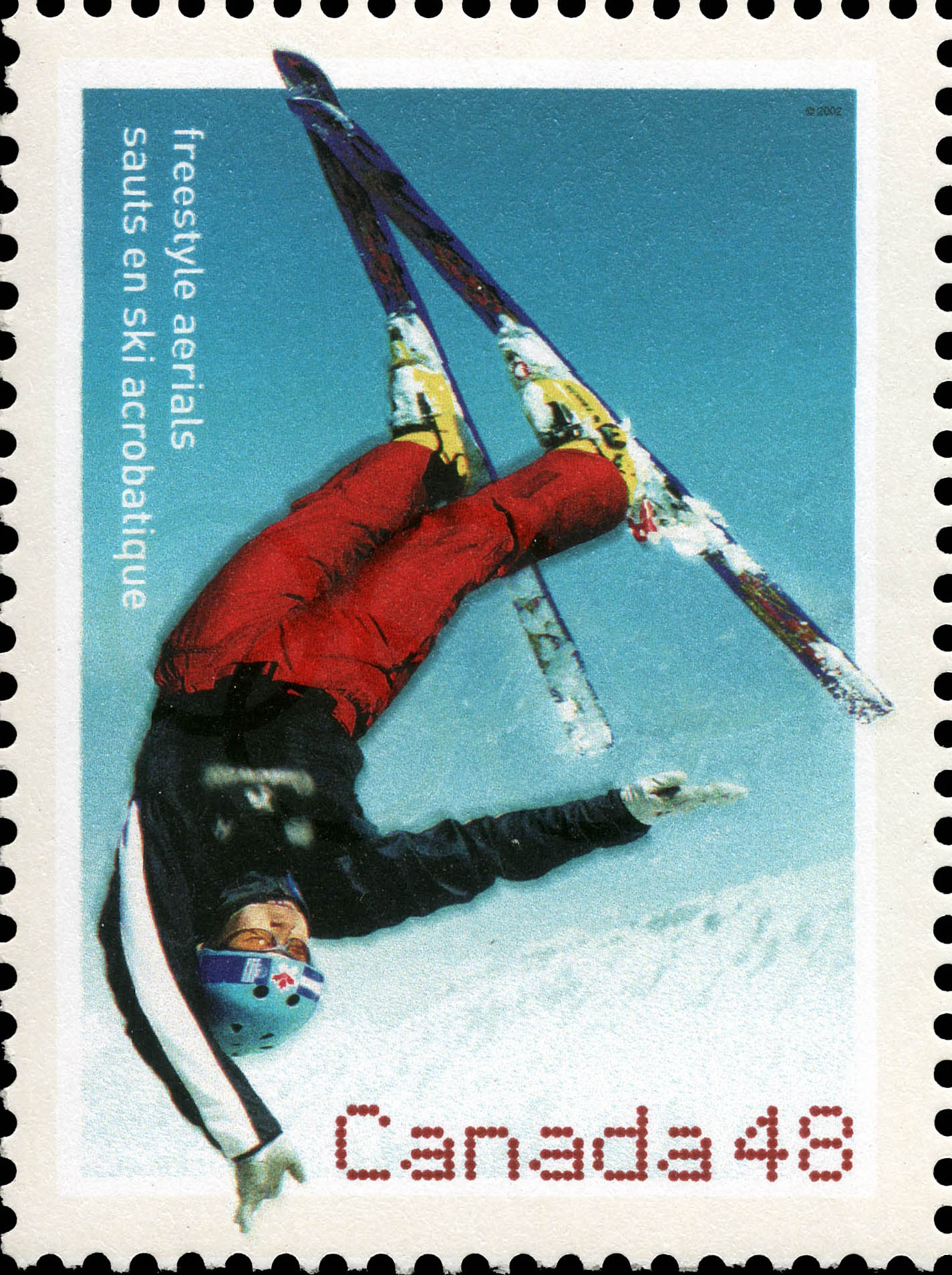 Freestyle Aerials Canada Postage Stamp | 2002 Olympic Winter Games