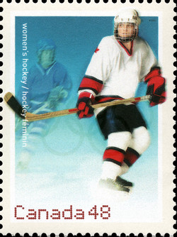 Women's Hockey  Postage Stamp