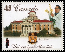 University of Manitoba, 1877-2002 Canada Postage Stamp | Canadian Universities