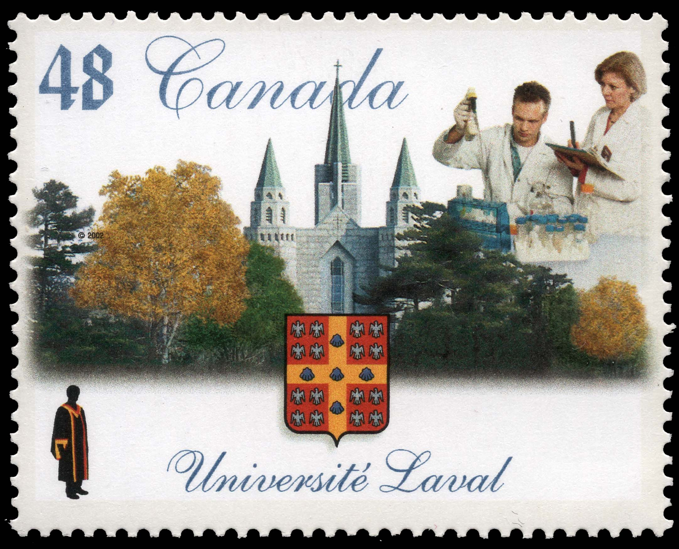 Universite Laval Canada Postage Stamp | Canadian Universities