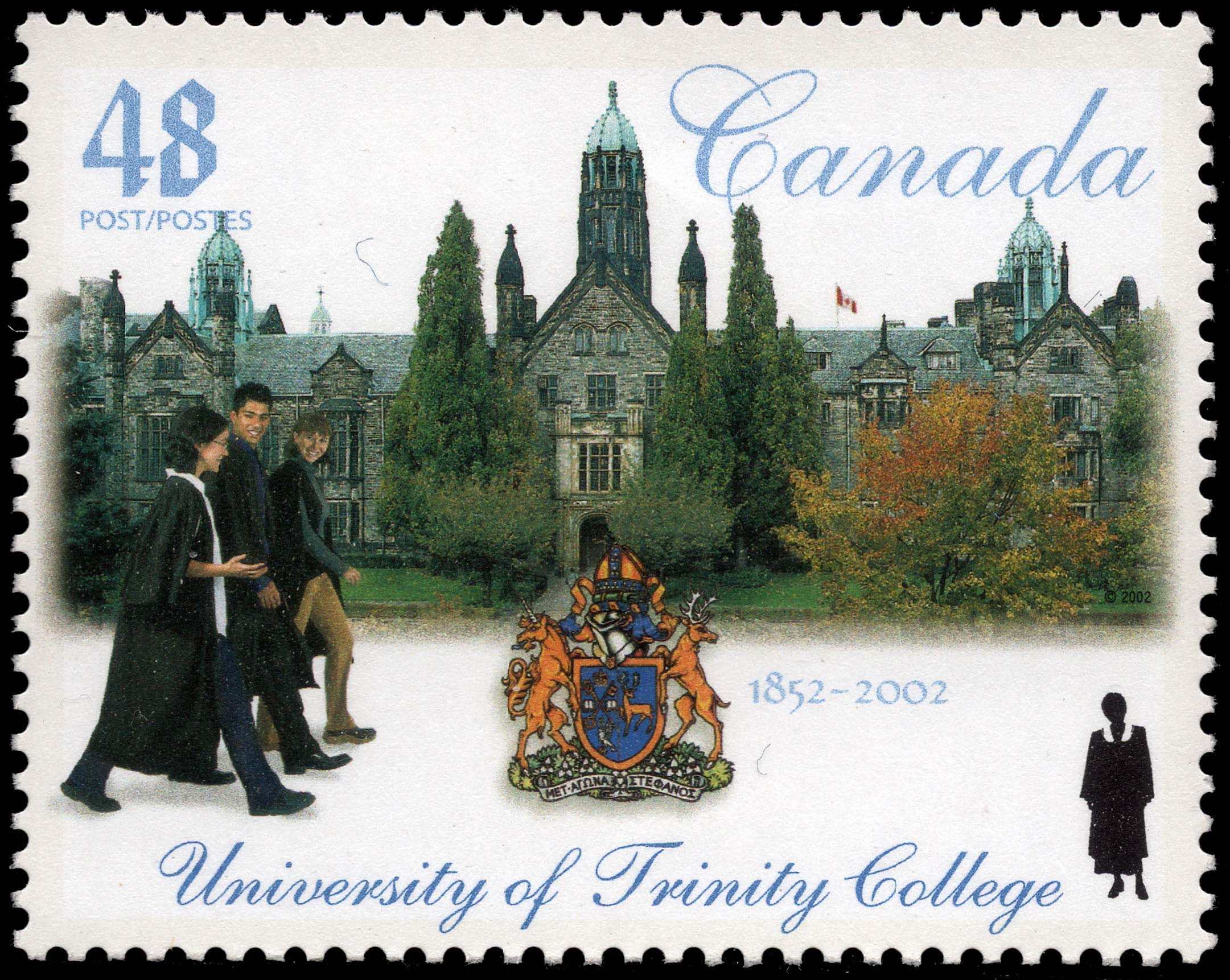 University of Trinity College, 1852-2002 Canada Postage Stamp | Canadian Universities