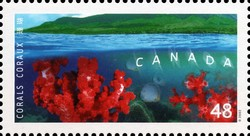 Dendronepthea gigantea and Dendronepthea Canada Postage Stamp | Corals