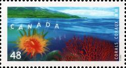 Tubastrea and Echinogorgia Canada Postage Stamp | Corals