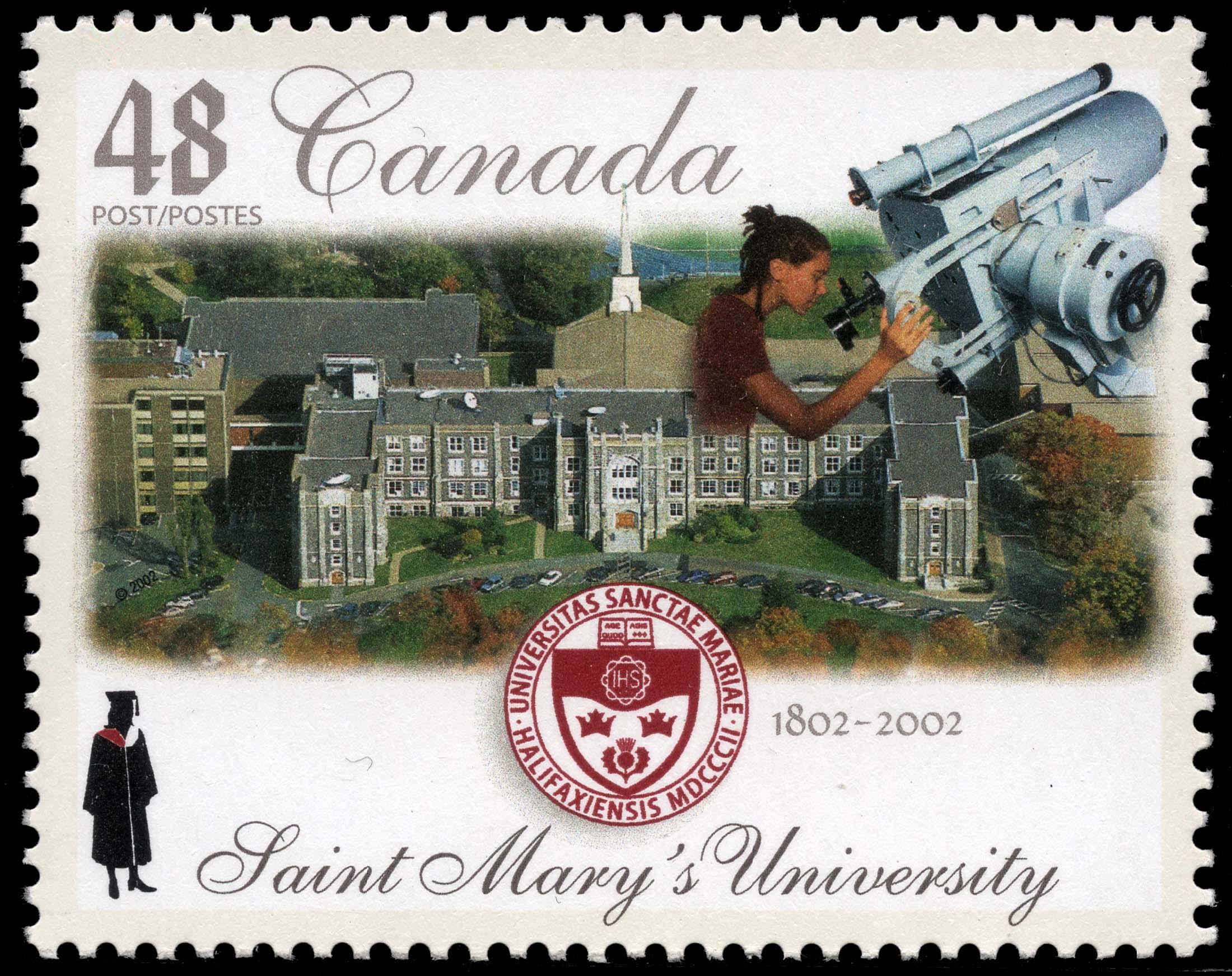 Saint Mary's University, 1802-2002 Canada Postage Stamp | Canadian Universities