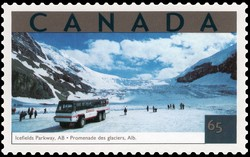 Icefields Parkway, Alberta Canada Postage Stamp | Tourist Attractions