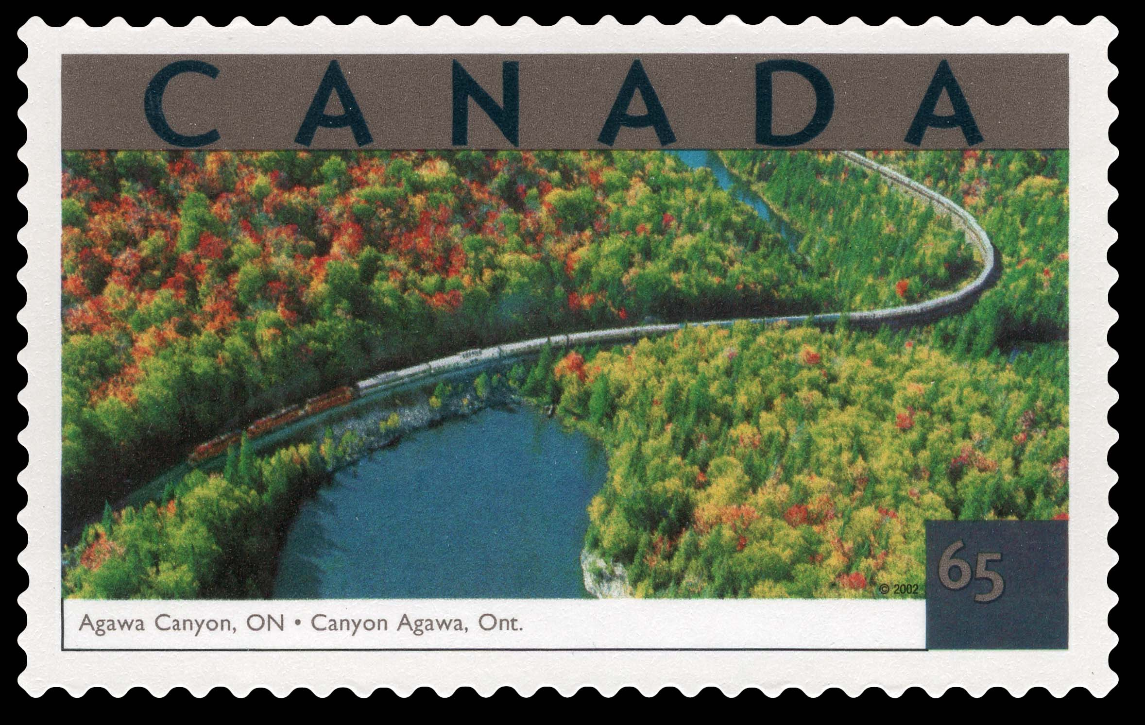 Agawa Canyon, Ontario Canada Postage Stamp | Tourist Attractions