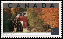 Kings Landing, New Brunswick Canada Postage Stamp | Tourist Attractions