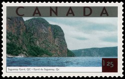 Saguenay Fjord, Quebec Canada Postage Stamp | Tourist Attractions