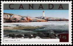 Peggy's Cove, Nova Scotia Canada Postage Stamp | Tourist Attractions