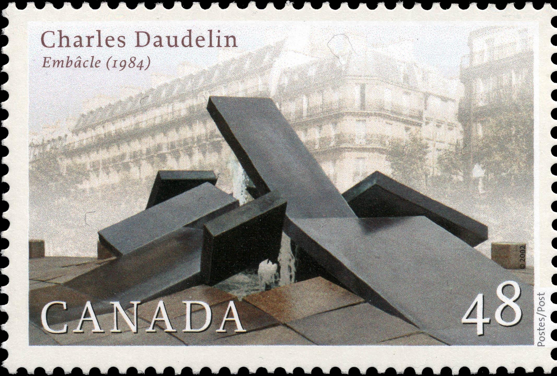 Charles Daudelin, Embacle, 1984 Canada Postage Stamp