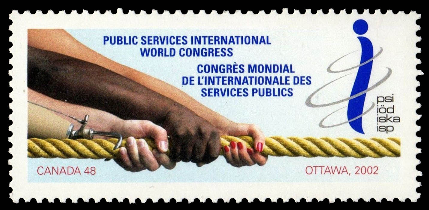 Public Services International World Congress, Ottawa, 2002 Canada Postage Stamp