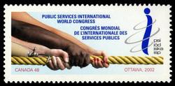 Public Services International World Congress, Ottawa, 2002 Canada Postage Stamp