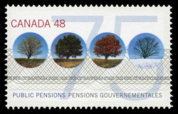 Public Pensions Canada Postage Stamp