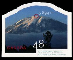 Kilimanjaro, Tanzania, 5,894 m Canada Postage Stamp | Mountains