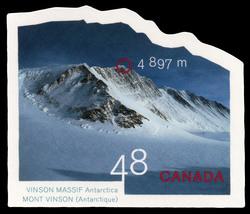 Vinson Massif, Antarctica, 4,897 m Canada Postage Stamp | Mountains
